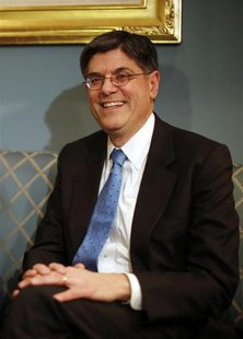 Jack Lew, U.S. President Barack Obama's nominee for Treasury Secretary, meets with U.S. Senator Orrin Hatch (R-UT) (not pictured) on Capitol