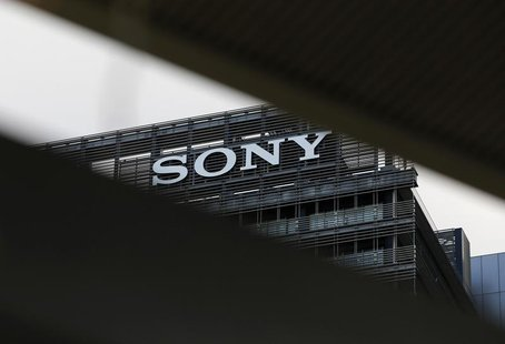 The logo of Sony Corp. is seen atop of Sony City Osaki building in Tokyo January 10, 2013. REUTERS/Toru Hanai