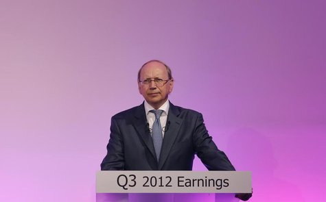 Alcatel-Lucent Chief Executive Officer Ben Verwaayen attends a news conference to present the company's 2012 third quarter sales results in