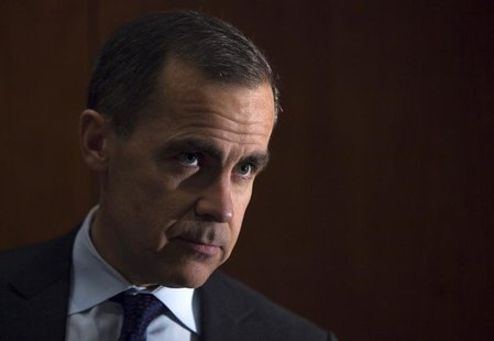 Mark Carney speaks during a news conference after a Financial Stability Board plenary meeting in Zurich, January 28, 2013. REUTERS/Michael B