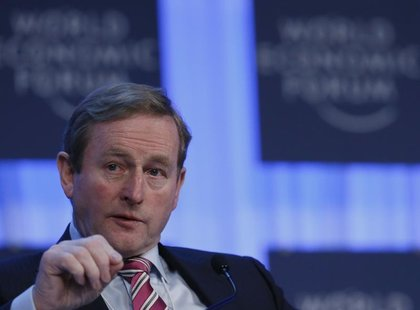 Ireland's Taoiseach Enda Kenny speaks during the annual meeting of the World Economic Forum (WEF) in Davos January 24, 2013. REUTERS/Pascal