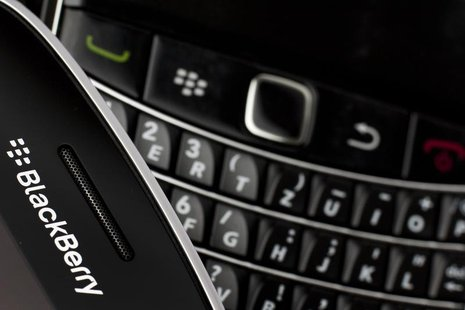 Research in Motion (RIM) BlackBerry smartphone handsets are pictured in this illustration picture taken in Lavigny, July 21, 2012. REUTERS/V