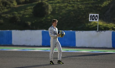 Mercedes Formula One racing driver Nico Rosberg of Germany walks at the Jerez racetrack in southern Spain February 4, 2013. REUTERS/Marcelo