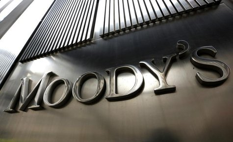 A Moody's sign is displayed on 7 World Trade Center, the company's corporate headquarters in New York, February 6, 2013. REUTERS/Brendan McD