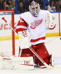 Red Wings goalie Jonas Gustavsson