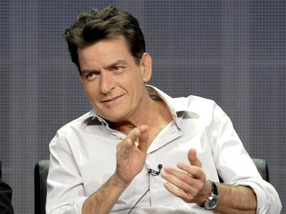 Actor Charlie Sheen takes part in a panel discussion at the FX Networks session of the 2012 Television Critics Association Summer Press Tour