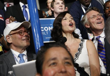 Actress Ashley Judd reads off the Tennessee vote totals during the roll call vote for the Democratic presidential nomination during the seco