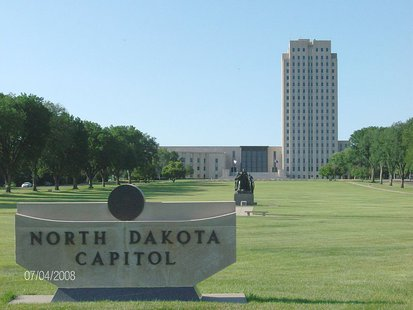 North Dakota state capitol in Bismark, N.D. - Photo by Xnatedawgx