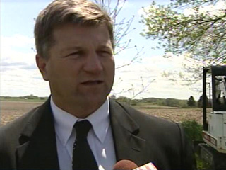 Dodge Co. Sheriff Todd Nehls is shown in this still frame taken from video shot May 11, 2009. (courtesy of FOX 11).