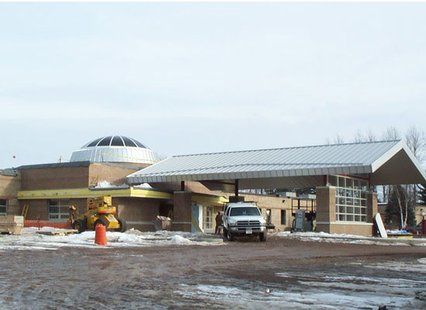 Eagle River Memorial Hospital construction project.  Photo courtesy of The Samuels Group contractors.