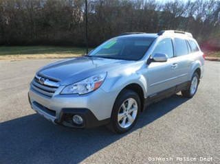 This 2013 Subaru Outback is similar to the one driven by Mary Jo Robertshaw of Oshkosh, who has been missing since Feb. 5, 2013.