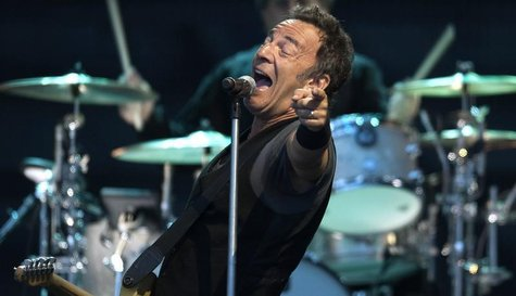 "U.S. musician Bruce Springsteen performs with the E. Street Band during a tour to promote their latest album ""Working on a Dream"", at Zorril"