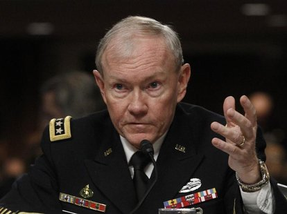 U.S. Army General Martin Dempsey, the Chairman of the Joint Chiefs of Staff, testifies on the Defense Department's response on the attack on
