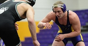UW Stevens Point wrestling at La Crosse.  Photo courtesy UWSP Athletic Department.