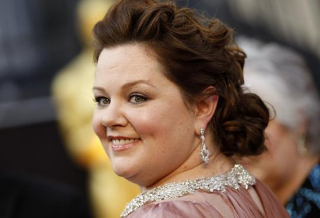 "Melissa McCarthy, best supporting actress nominee for her role in ""Bridesmaids"", arrives at the 84th Academy Awards in Hollywood, California"