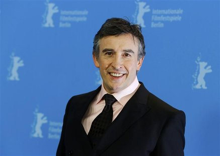 "Actor Steve Coogan poses during a photocall to promote the movie ""The Look of Love"" at the 63rd Berlinale International Film Festival in Ber"