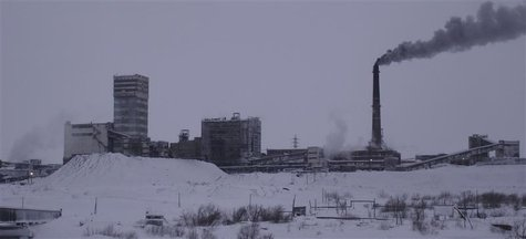 A general view of the Vorkutinskaya mine in Russia's northern Komi region is seen in this undated file photo provided by Russia's Emergency