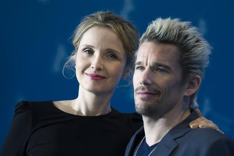 "Cast members Julie Delpy (L) and Ethan Hawke pose during a photocall to promote their movie ""Before Midnight"" at the 63rd Berlinale Internat"
