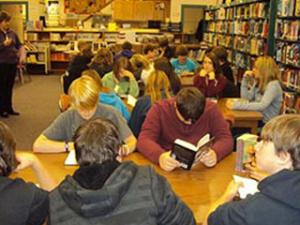 The Wurdeman's School Library at Mosinee Middle School.  Photo submitted