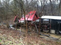 I-70 Overturned Truck 1