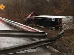 I-70 Overturned Truck 2
