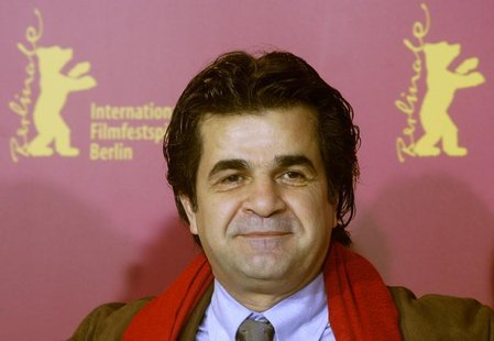 Iranian director Jafar Panahi poses during a photocall to present his film 'Offside' running in competition at the 56th Berlinale Internatio
