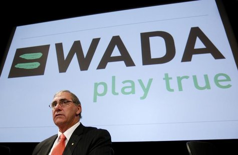 World Anti-Doping Agency (WADA) President John Fahey looks on before the WADA Media Symposium at the Olympic Museum in Lausanne in this Febr