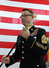 Command Sgt. Maj. Bradley Shields, Wisconsin Army National Guard