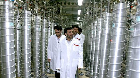 Iranian President Mahmoud Ahmadinejad visits the Natanz nuclear enrichment facility, 350 km (217 miles) south of Tehran, in this file photo