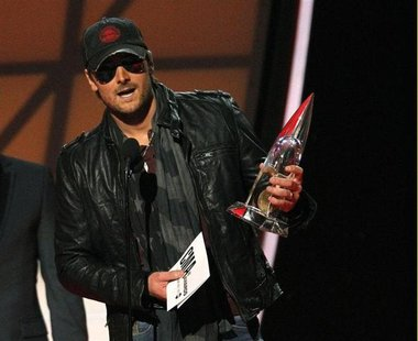 "Eric Church accepts the award for album of the year for ""Chief"" at the 46th Country Music Association Awards in Nashville, Tennessee, in thi"