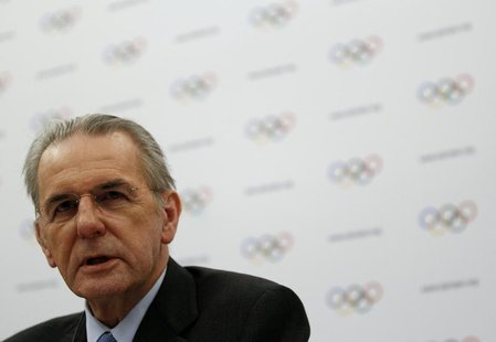 International Olympic Committee (IOC) President Jacques Rogge addresses during a news conference at the end of a two-day Executive Board mee