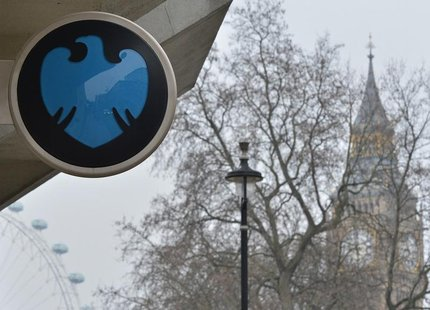 The Barclays logo is seen on a branch of the bank in London February 12, 2013. REUTERS/Toby Melville