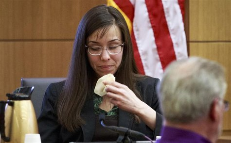 Jodi Arias gives testimony during her court appearance at the Maricopa County Superior Court in Phoenix, Arizona, February 6, 2013. REUTERS/