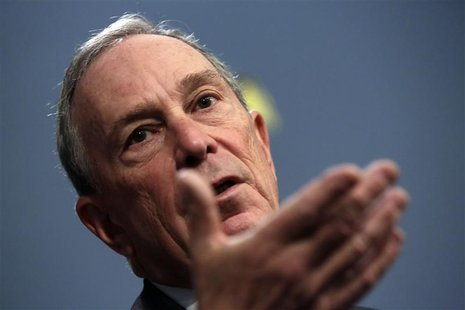 New York Mayor Michael Bloomberg unveils a proposed budget in the Blue Room of New York's City Hall in New York, January 29, 2013. REUTERS/R