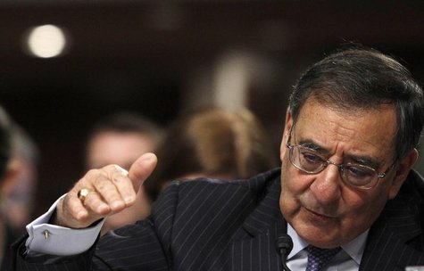 U.S. Secretary of Defense Leon Panetta testifies on the Defense Department's response on the attack on U.S. facilities in Benghazi, Libya be