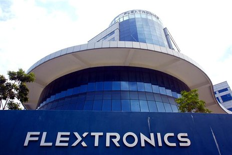 The exterior view of the Flextronics International Inc. headquarters for regional manufacturing in Singapore, September 26, 2003. - RTXM7UK