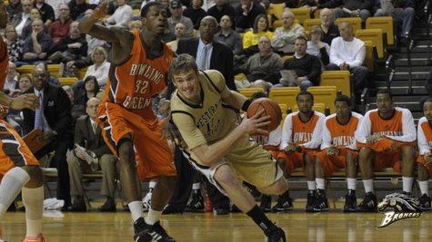 WMU senior forward Nate Hutcheson, who reached the 1000 point career mark in Western's 70-60 loss to Bowling Green on Wednesday, February 13, 2013 (Photo courtesy of Western Michigan University)
