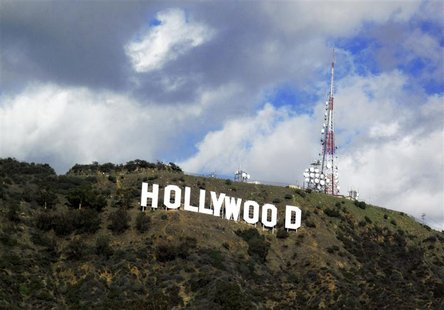 A view of the Hollywood sign in the Hollywood Hills in Hollywood, California in this December 13, 2009 file photo. REUTERS/Fred Prouser/File