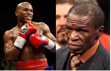 Floyd Mayweather (left) Floyd Mayweather Sr. (right)