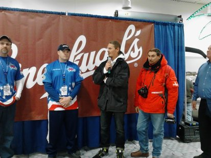 Contestants in the World Ice Fishing Championships 2013 meet the public at the Central Wisconsin Sports Show at Rothschild's Patriot Center.