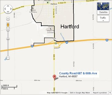 County Road 687 is also apparently identified as 64th Street on many maps.