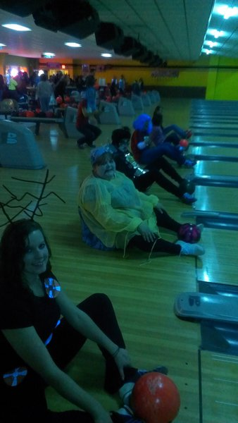 Silly bowling by Nikki :)