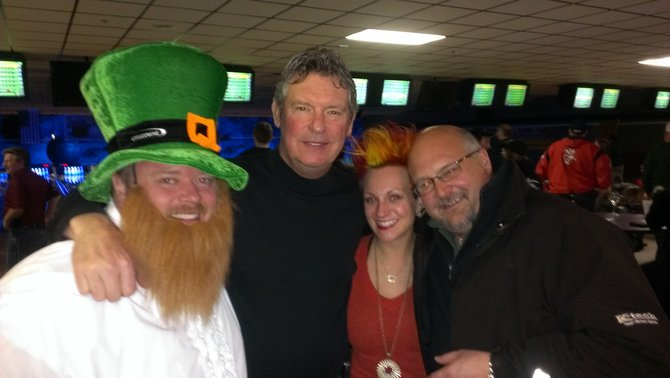 Bryan and Nikki with former Packer quarterback Lynn Dickey and Craig Kerscmeier from K-Tech
