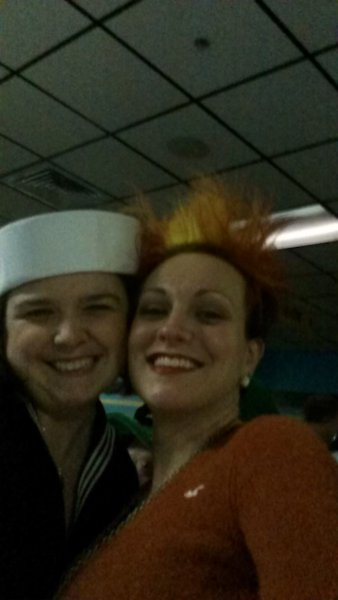 Bryan's wife Addi with Nikki (Heat Miser)