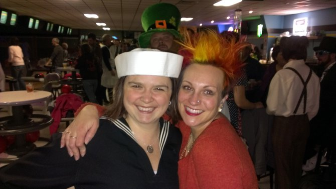 Bryan's wife sailor Addi and Heat Miser Nikki