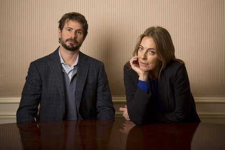 Screenwriter Mark Boal and Director Kathryn Bigelow pose for photos for their new film 'Zero Dark Thirty' in New York December 4, 2012. REUT