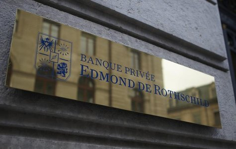 A logo of Banque Privee Edmond de Rothschild is seen on the bank building before a news conference for the group's 2010 results, in Geneva M