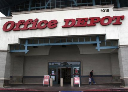 An Office Depot store front is shown in Encinitas, California February 28, 2012. Office Depot will report earnings this week. REUTERS/ Mike