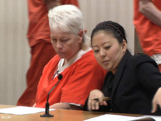 Dianna Siveny appears in Outagamie County court Feb. 18, 2013, on charges connected to the 2007 death of Lara Plamann. (courtesy of FOX 11).