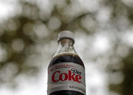 A bottle of Diet Coke soft drink is seen in Arlington, Virginia, August 17, 2009. REUTERS/Jim Young